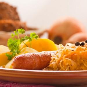 Kielbasa with Sauerkraut