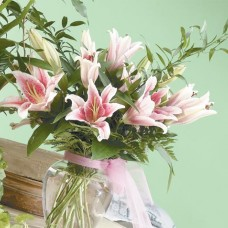 Vase of Stargazer Lillies