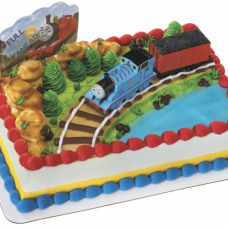 Thomas & Coal Car Cake