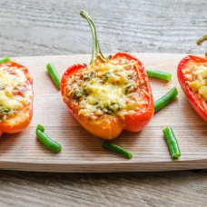 Stuffed Peppers with Marinara Sauce