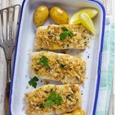 Baked Haddock in Lemon Butter