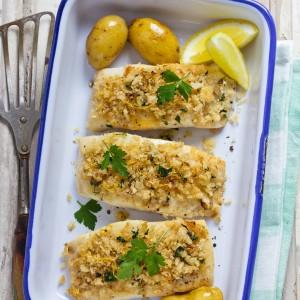 Baked Haddock in Lemon Butter