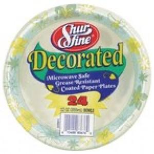 Shurfine 8.62″ Decorated Plates