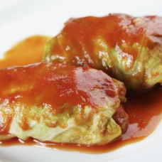 Stuffed Cabbage Rolls with Sauce