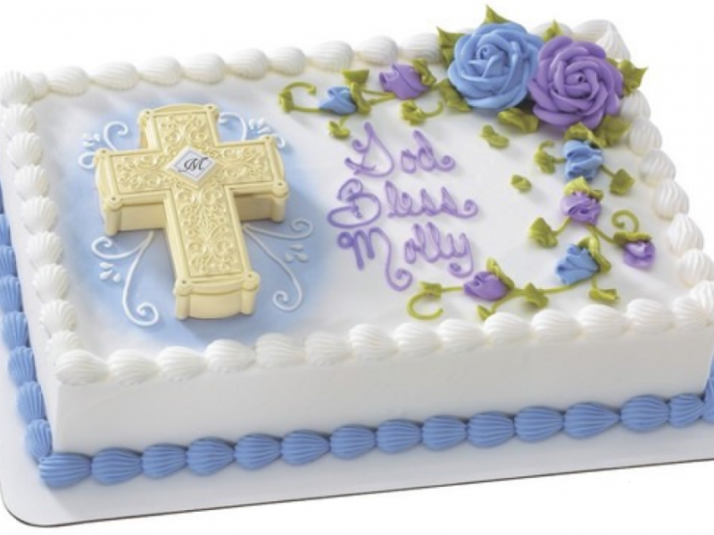 Ornate Cross Box Cake