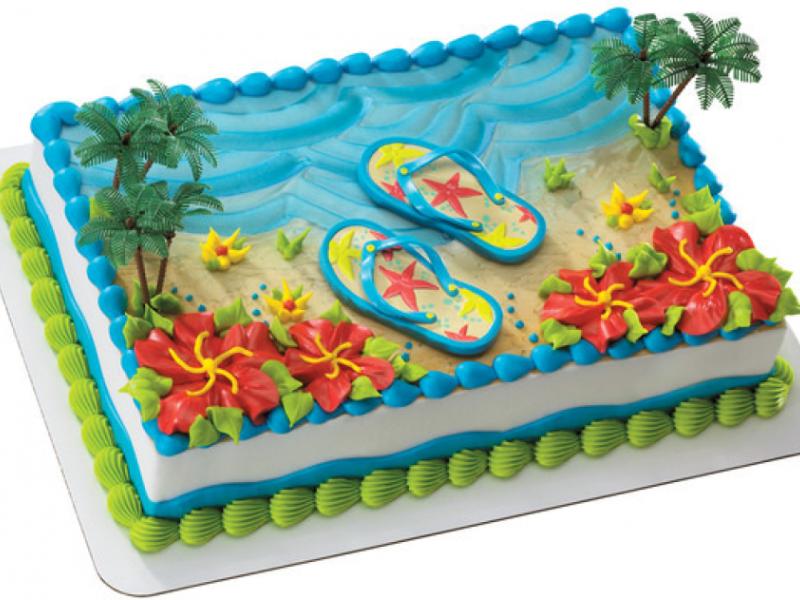 Summer Flip Flops Cake